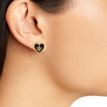Tory Burch Logo Heart Stud Earrings | Nordstrom