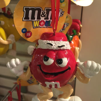 M&M's World Red Santa Christmas Ornament New with Tags