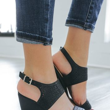 Summer Classic Wedges - Black