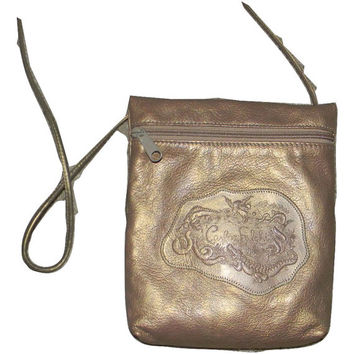 Vintage Carlos Falchi leather bag, purse ~Cross body style #vintage #carlosfalchi