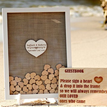 Wedding Guest Book Alternative,Wedding Guestbook,Guest Book Hearts,Rustic Wedding guest book,Drop box Guest Book,Wedding Guest Book Ideas