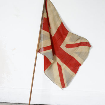 Antique Union Jack Flag - Early 1900s British Flag