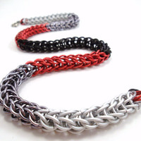 Chainmail Necklace Flaming Coals Full Persian by SerenityInChains