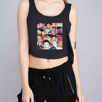 Sam pottorff collage for Crop Tank Girls S, M, L, XL, XXL *07*