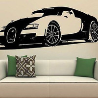 Bugatti Veyron Wall Art Sticker Decal  S7442