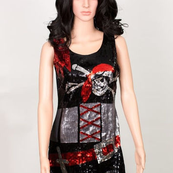 Buccaneerish Sequin Party Dress