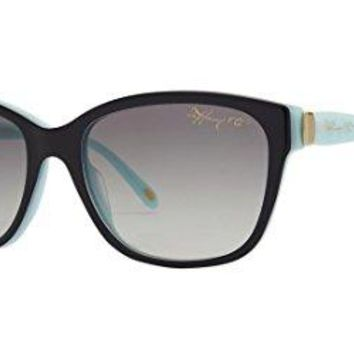 Tiffany Tf4083 Butterfly Black Blue Sunglasses 81633C