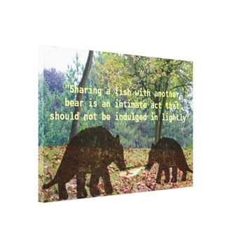 Wild Brown Bears Canvas Print