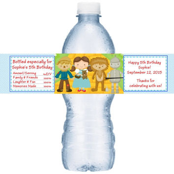 Wizard of Oz Birthday Party Water Label Favors