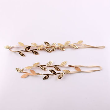 Gold/ Silver Leaf Mommy & Me Headbands