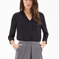 Pleated Split-Front Skort