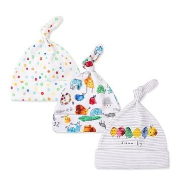 3pcs/packet Baby Hats 100% Cotton