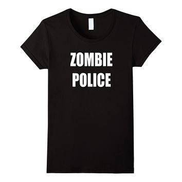 Zombie Police Shirt Apocalyptic Costume Party Halloween