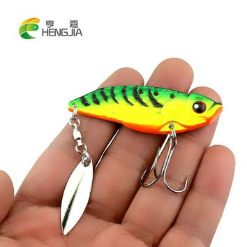 HENGJIA hard metal vib fishing lures sea sinking vibration spinnerbaits blade sequins fishing baits pesca fishing tackles