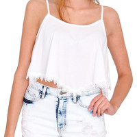 Free Flow Crop Top White