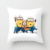 Minion Shakes Throw Pillow by Harry Martin