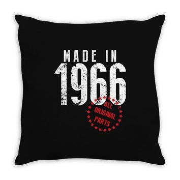 Made In 1966 All Original Parts Throw Pillow