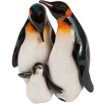 Playful Baby Penguin With Family Figurine