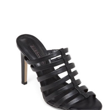 Callie Open-Back Cage Sandal in Black - BCBGeneration