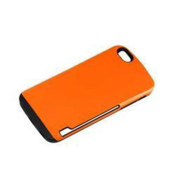 REIKO IPHONE 6 PLUS CANDY SHIELD CASE WITH CARD HOLDER IN ORANGE