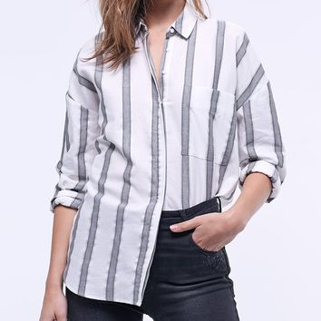 Lurex striped shirt - CLOTHING - WOMAN | Stradivarius United Kingdom