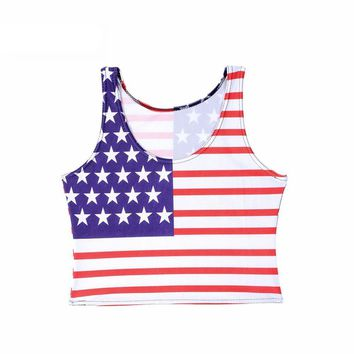 American Flag Women's Crop Top
