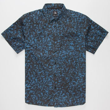 Quiksilver Splat Shirt Mens Shirt Navy Combo  In Sizes