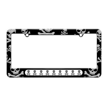 Skull And Crossbones - Poison - License Plate Tag Frame - Skull and Crossbones Design