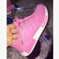 """ADIDAS"" Women Running Sport Casual NMD Shoes Sneakers pink"