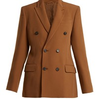 Crepe double-breasted tailored jacket | Connolly | MATCHESFASHION.COM UK