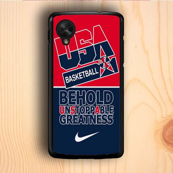 Dream colorful USA Basketball Greatness Nexus 5 Case