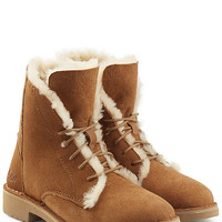 UGG Australia - Suede Lace-Up Boots with Searling Lining