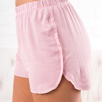 Back And Better Basic Shorts (Dusty Pink)