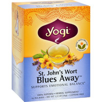 Yogi Blues Away Herbal Tea Caffeine Free St. John's Wort - 16 Tea Bags - Case Of 6
