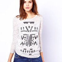 Warehouse Aztec Space Dye Top