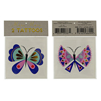 2 TEMPORARY TATTOO, butterfly tattoo, metallic tattoo fake tattoo, boat tattoo,