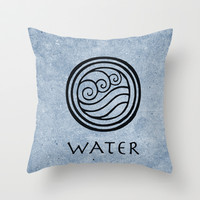 Avatar Last Airbender - Water Throw Pillow by Briandublin