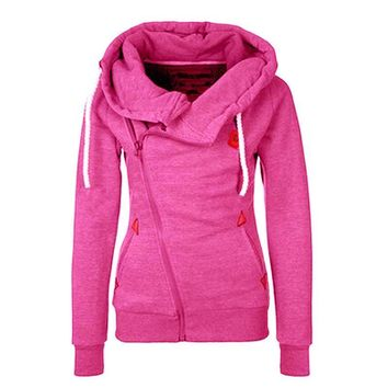 Tracksuit Women Hoodies Sweatshirts Long Sleeve Hooded Jacket Zipper Design Sweatshirt Women Sudaderas Pink Hoodies Sweatshirt