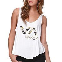 RVCA Daisy Scoop Tank - Womens Tee - White -