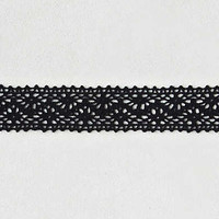 AEO Black Crochet Choker , Black