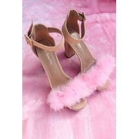 Pink Feather Heels