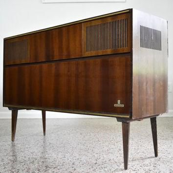Mid Century Grundig Majestic Stereo Console Conversion - Mid Century Media Storage Cre