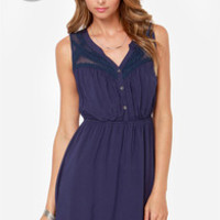 LULUS Exclusive Count Me In Navy Blue Dress