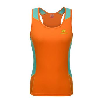 2017 TECTOP Summer Outdoor Women Quick Dry Vest Sleeveless vest Sports Camping Hiking Running women breathable T-shirt
