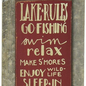Primitives by Kathy Sign 7 by 3-Inch Lake Rules