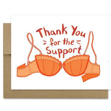 Bra Support - Thanks Card