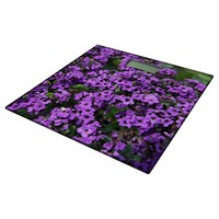 Intriguing Purple Flowers Bathroom Scale