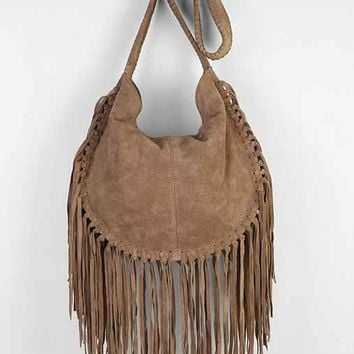 Ecote Bettina Suede Fringe Hobo Bag-