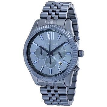*BRAND NEW* Michael Kors Men's Blue Ion Plated Stainless Steel Case Watch MK8480