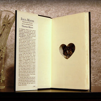 Hollow Book Safe with Heart (Soul Mates)